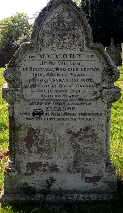 A grave stone in the cemetery of St Michael's