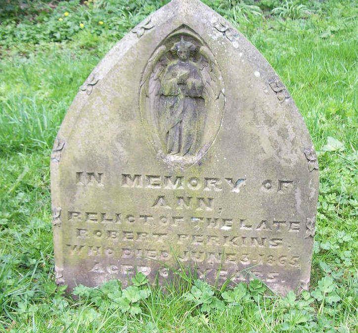 The grave stone of Robert Perkins