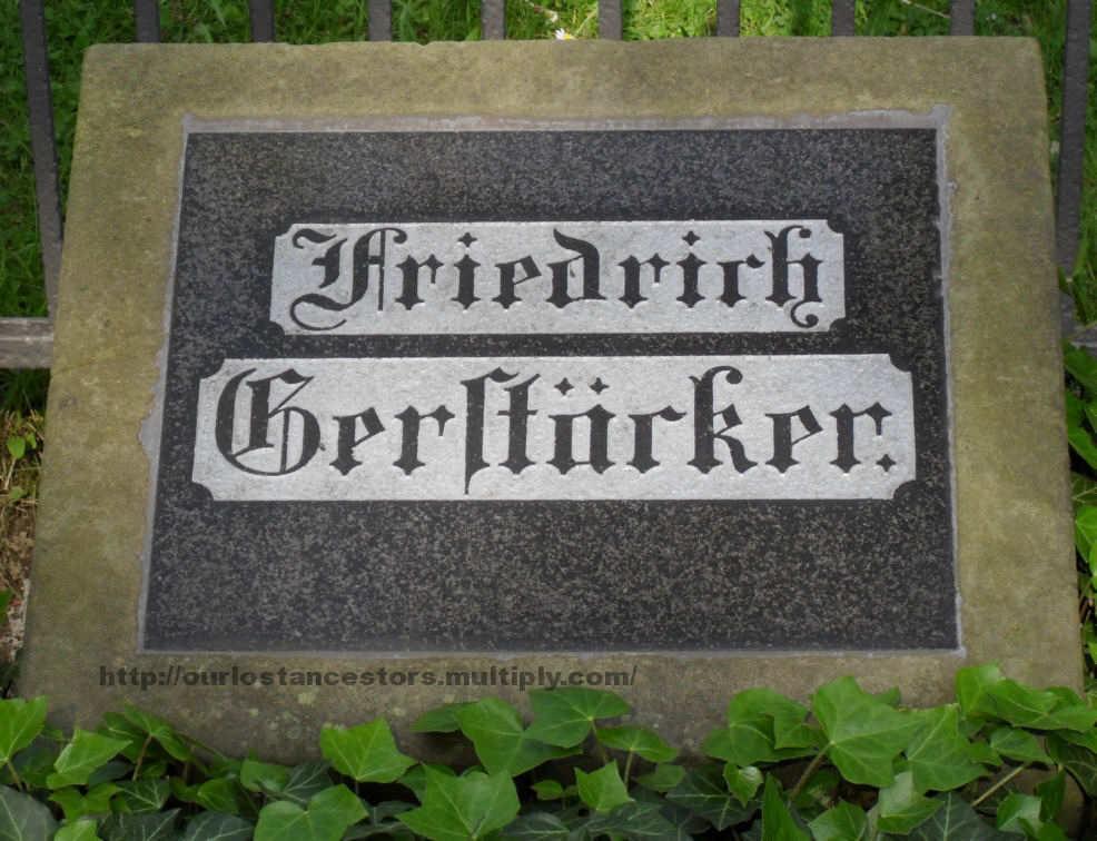 The grave of Friedrich Gerstäcker