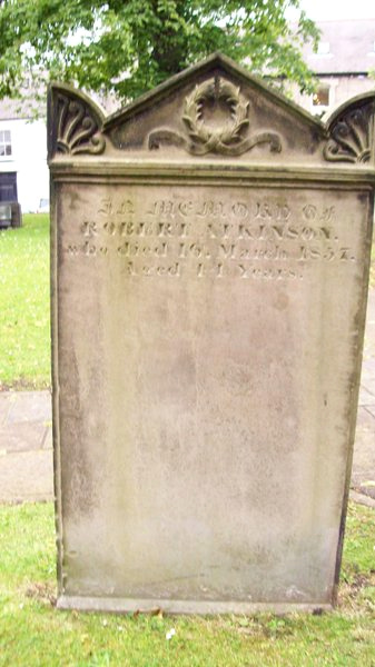A grave stone on the cemetery of St Andrews