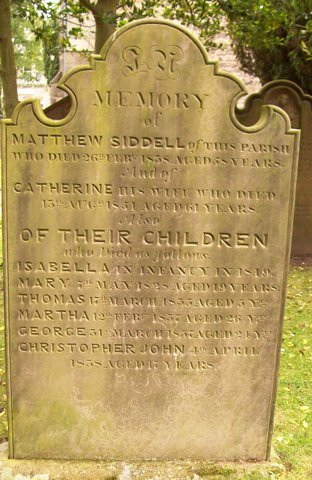 A grave stone in the cemetery of St Andrews