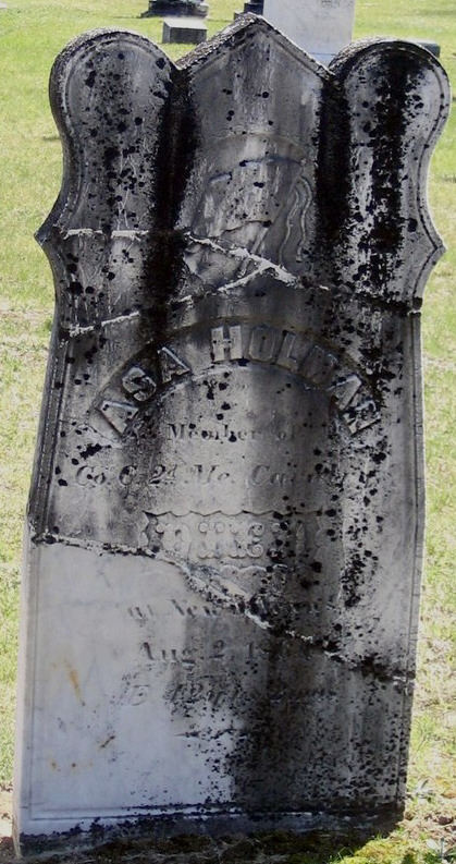 The grave stone of Asa Holman