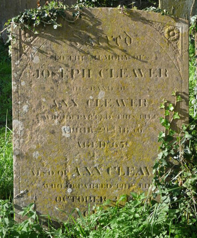 A grave stone on the cemetery of St James the Great