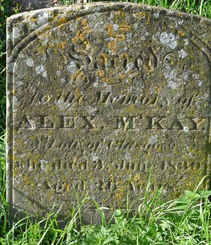 The grave stone of Alex McKay