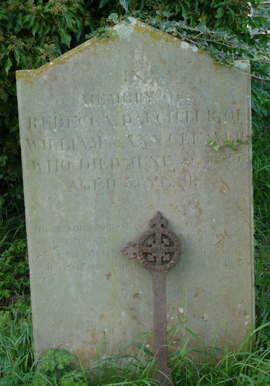 A grave stone on the cemetery of St Peters