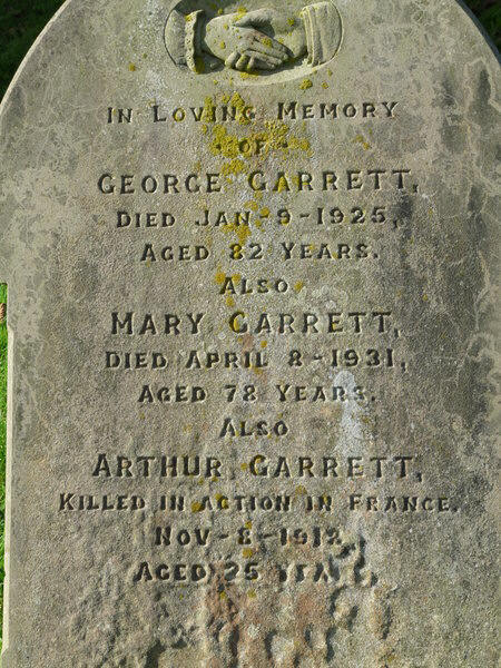 The grave stone of the Garrett family