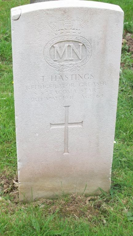 A grave stone in the cemetery of St Peters