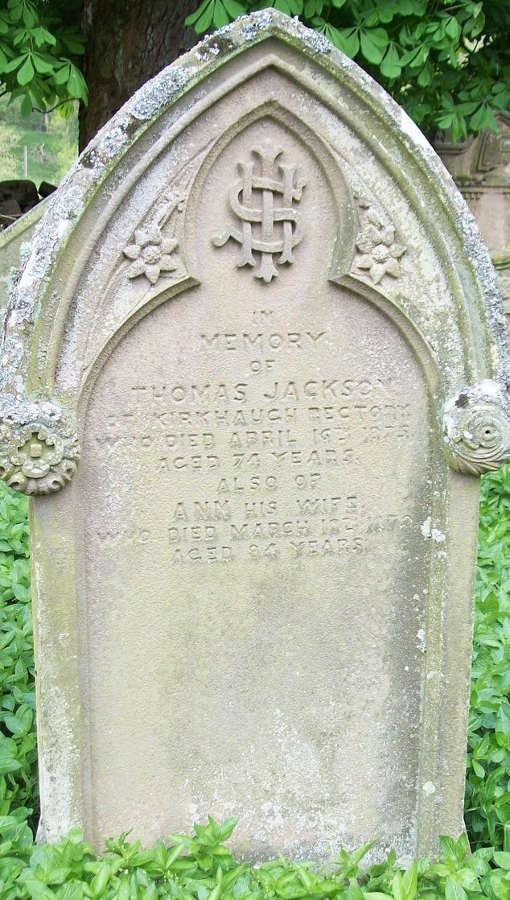 Gravestone Thomas Jackson