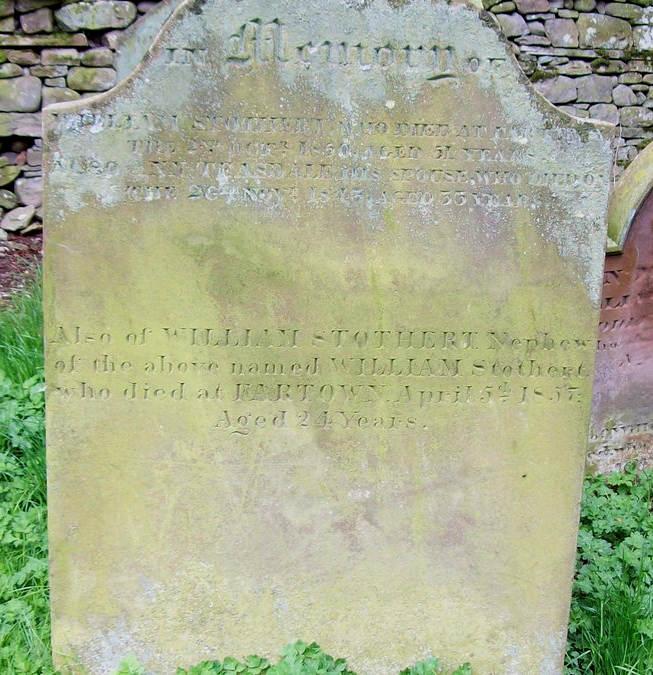 Gravestone William Stothert