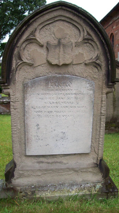 A grave stone of the Watson family
