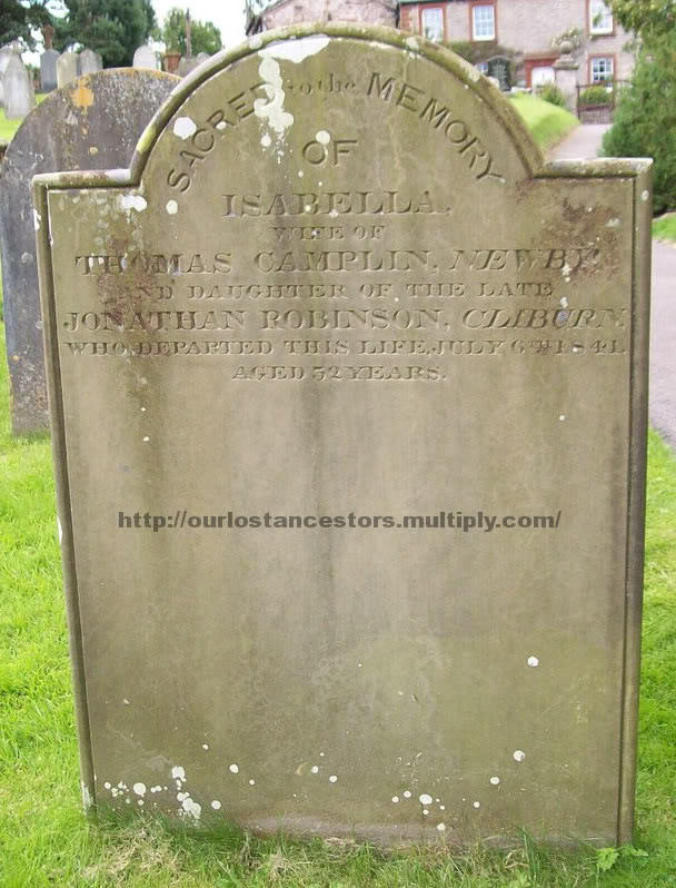 A grave stone in the cemetery of St Lawrence