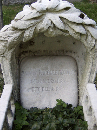 A monument in the cemetery of Mount Auburn