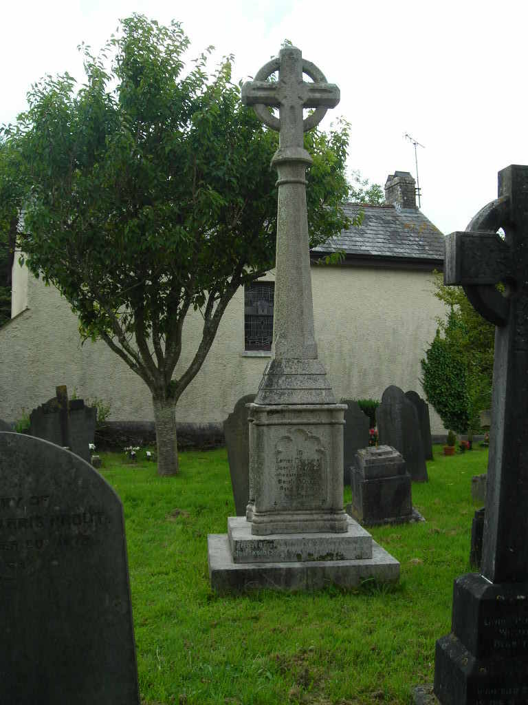 A grave stone in the cemetery of St Maurice