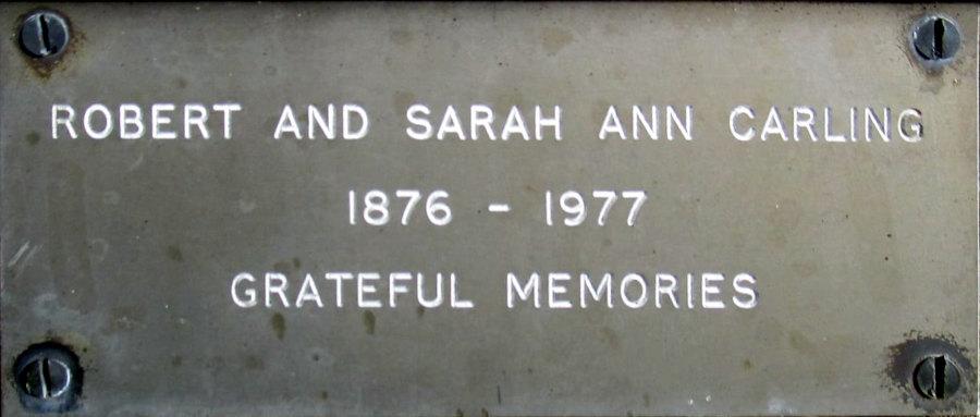 Robert and Sarah Ann Carling