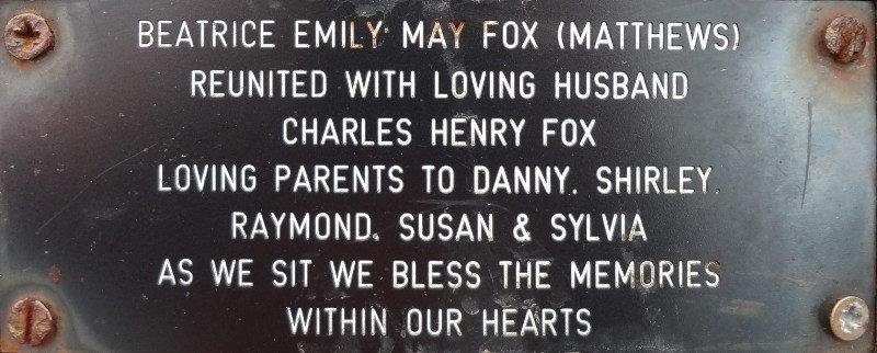 Beatrice Emily May Fox