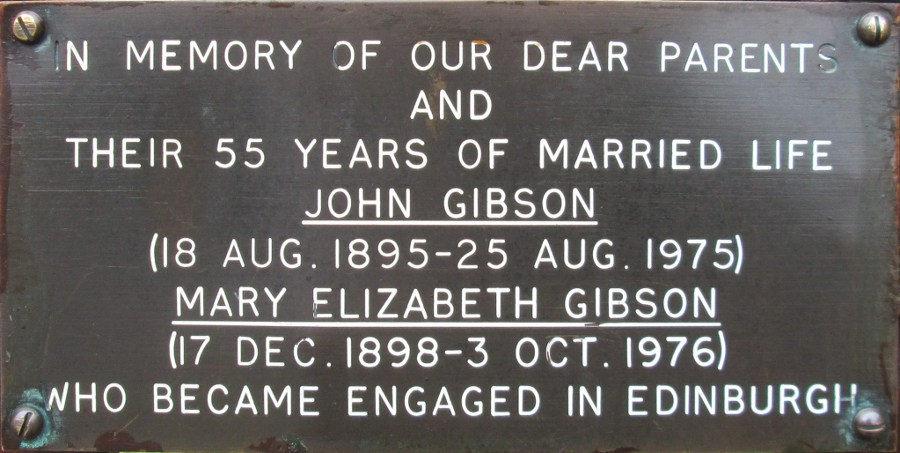 John and Mary Elizabeth Gibson