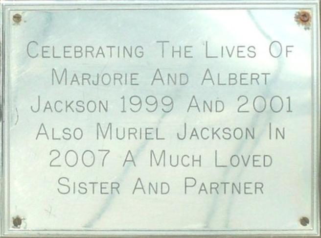 Marjorie, Muriel and Albert Jackson