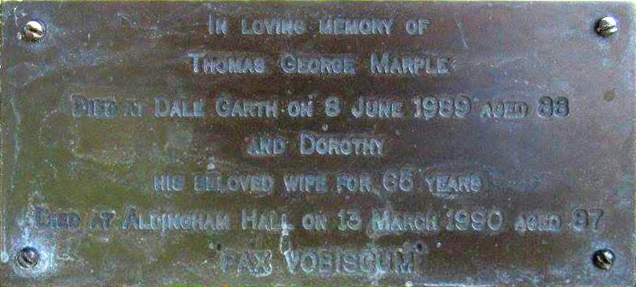 Thomas George and Dorothy Marple