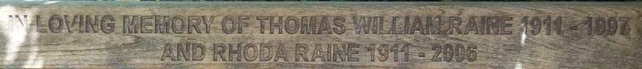 Thomas William and Rhoda Raine