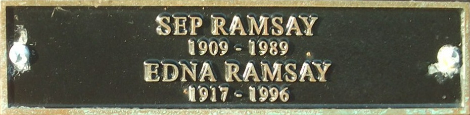 Sep and Edna Ramsay