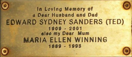 Edward Sydney Sanders and Maria Ellen Winning