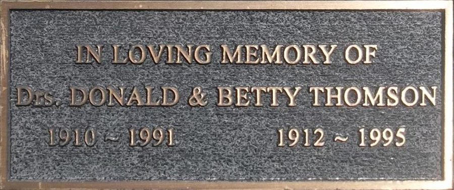 Donald and Betty Thomson