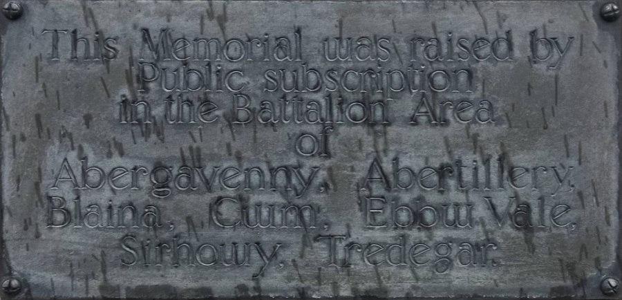 Erection of memorial