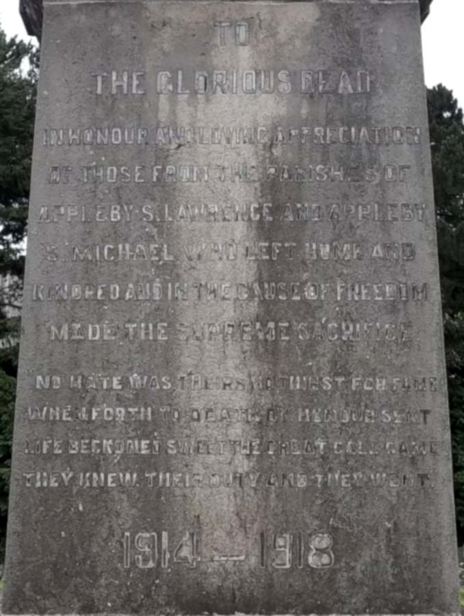Inscription 1914-1918