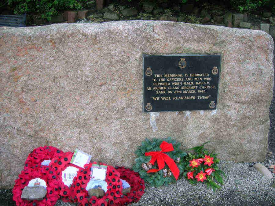 Dasher Memorial - Ardrossan, Ayrshire, Scotland
