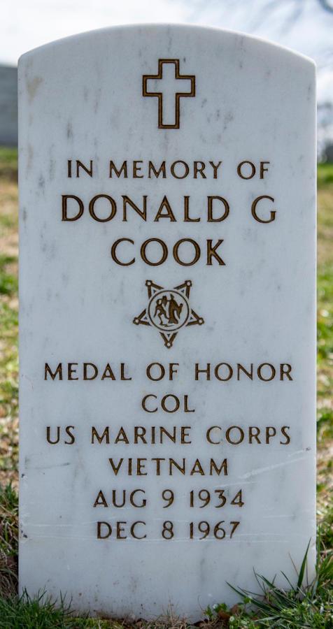 Memorial stone Donald G. Cook