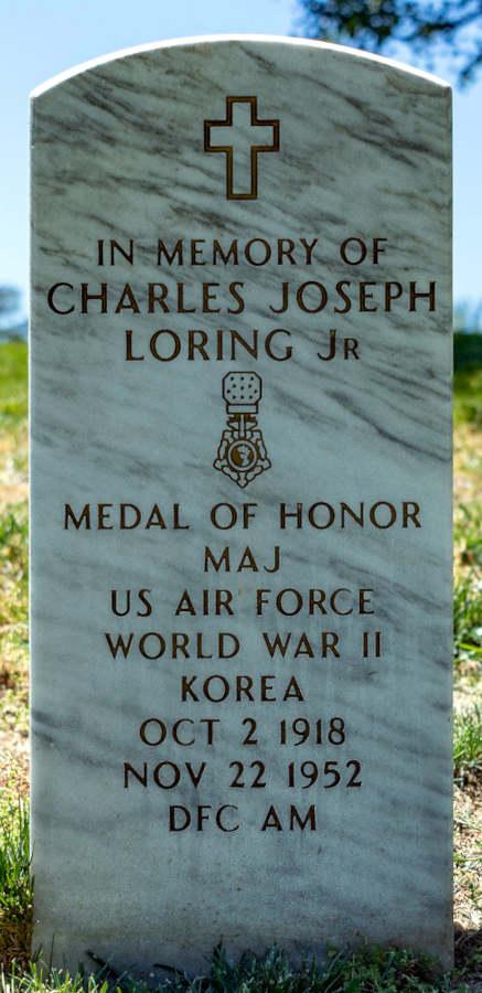 Memorial stone Charles Joseph Loring Jr.