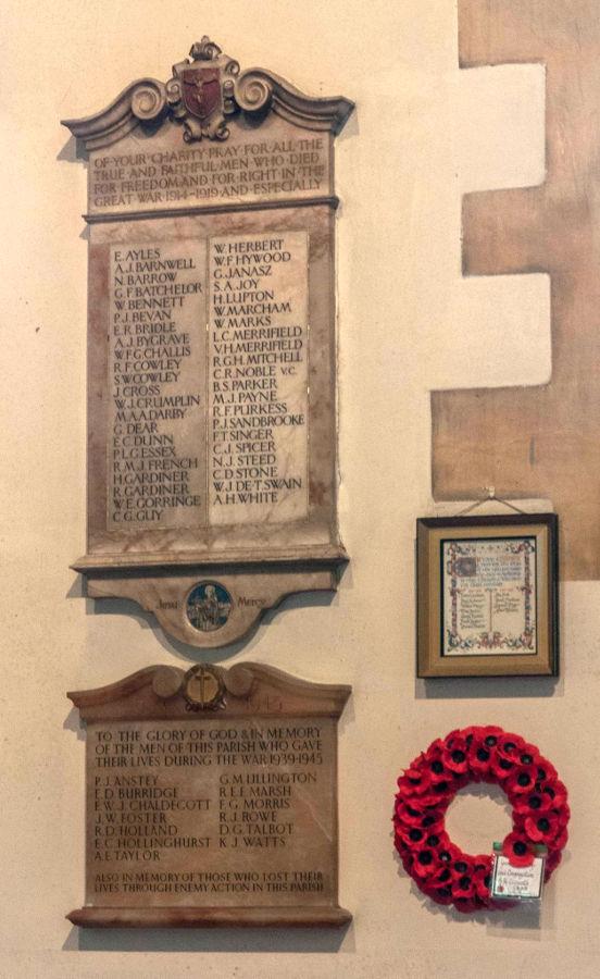 War Memorial - St. Clement's Church, Bournemouth, Dorset, England