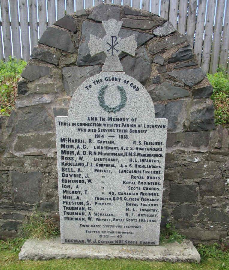 War Memorial - Cairn Ryan (Cairnryan), Dumfries and Galloway, Scotland