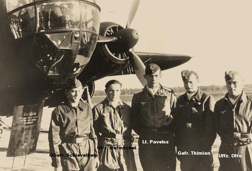 The JU-188 crew of Lieutnant Pavelsz