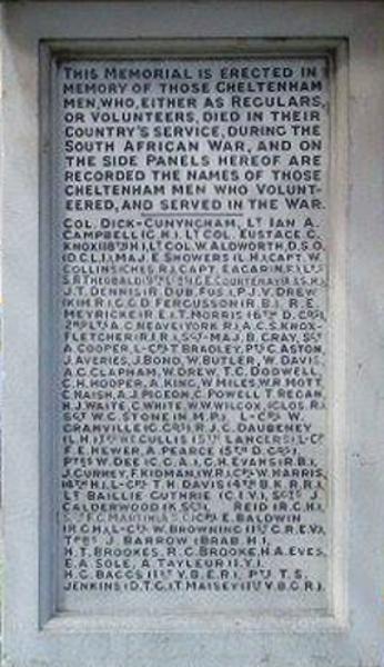 War Memorial - Name Panel