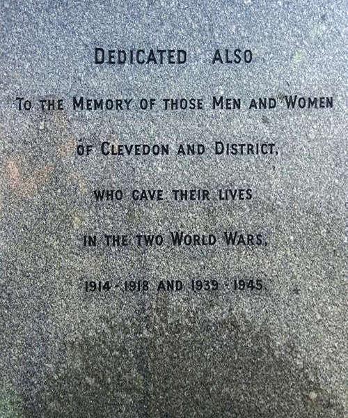 Inscription WW I and WW II