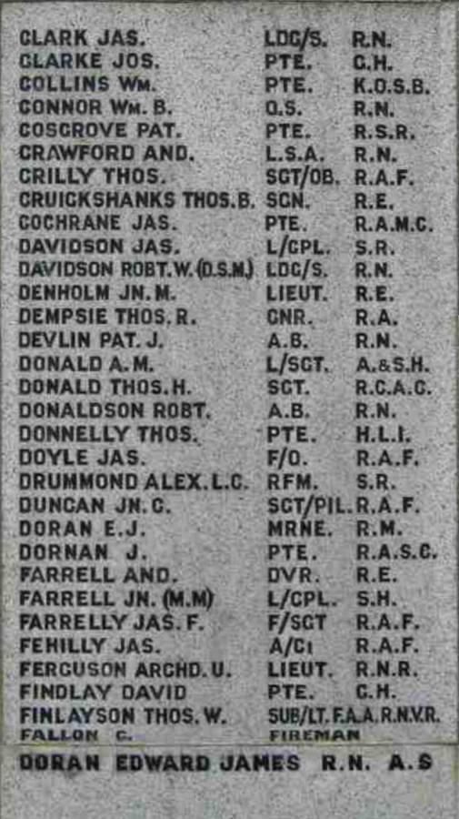 Names WW II