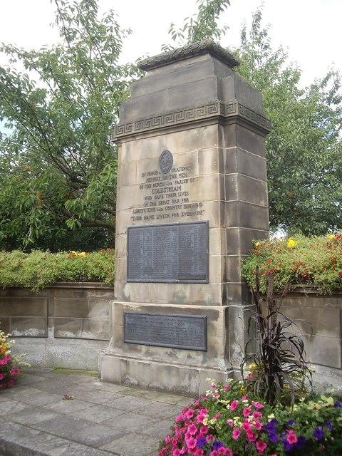 War Memorial - Coldstream, Scottish Borders, Scotland