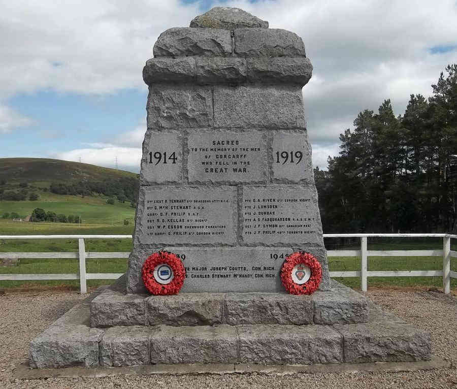 War Memorial - Corgarff, Aberdeenshire, Scotland