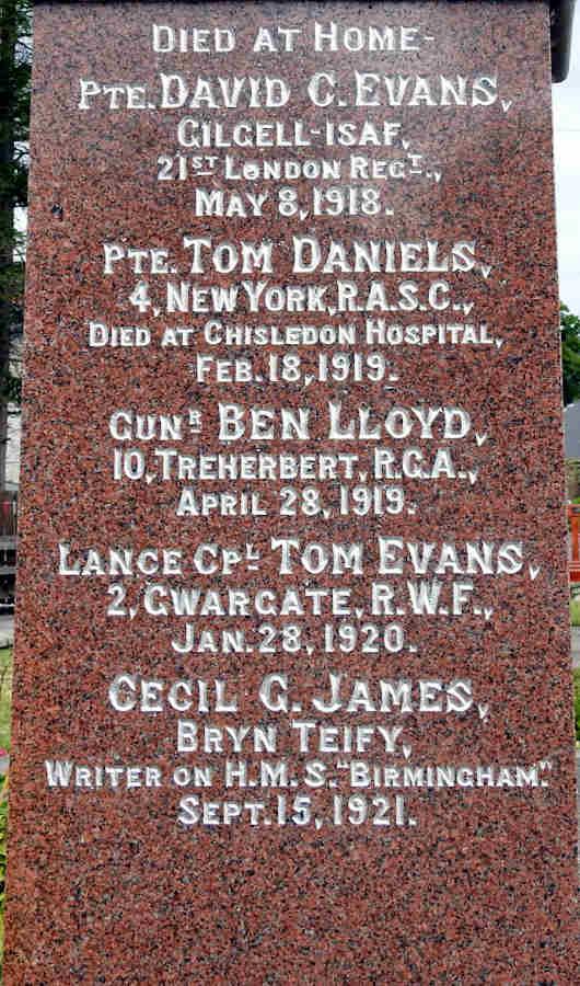 Names 1918-1921