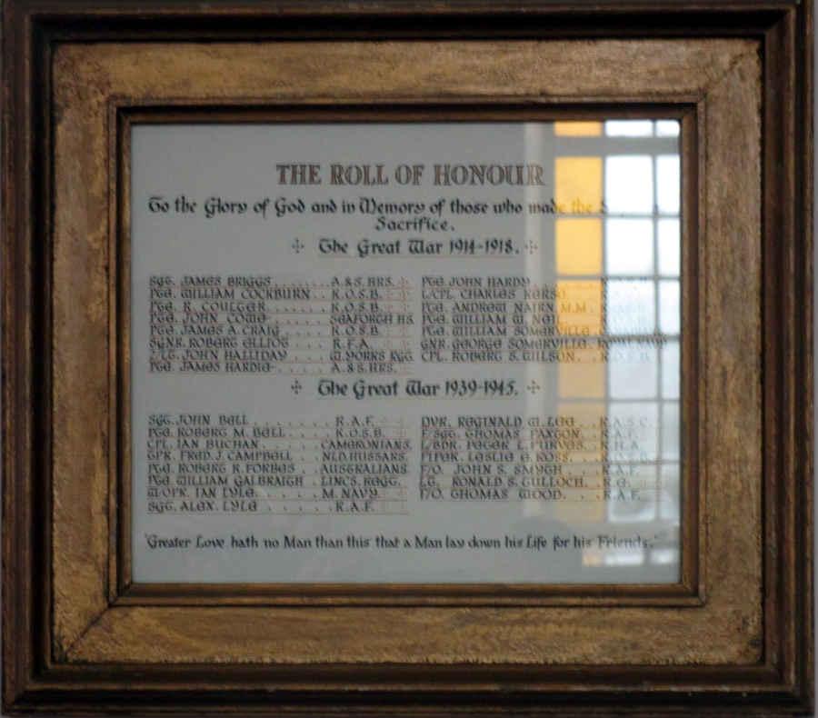 Eccles-Roll of Honour