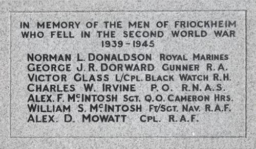 War Memorial - Friockheim, Angus, Scotland