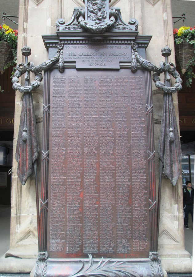 War Memorial - Glasgow, Central Station