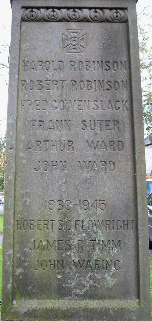 War Memorial - Great Longstone, Derbyshire, England