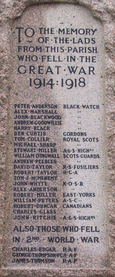 War Memorial - Kinnesswood, Perth & Kinross, Scotland