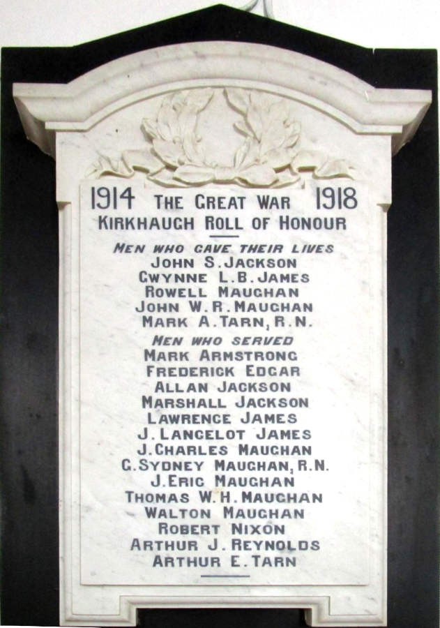 Roll of Honour WW I
