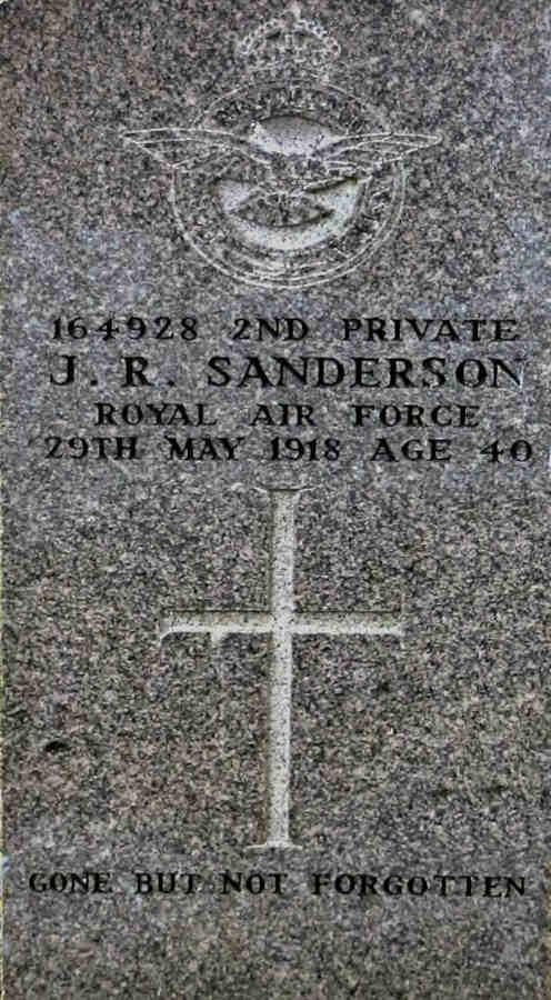 Headstone of John Robert Sanderson