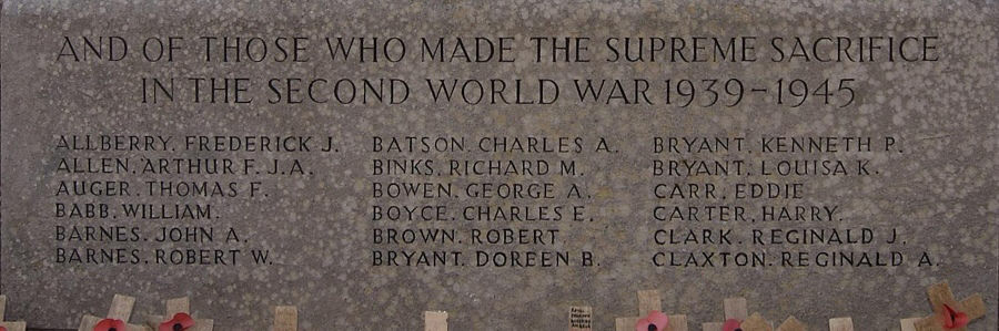 Names WW II