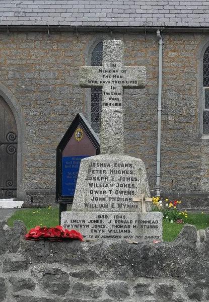 War Memorial - Rhes-y-Cae, Flintshire, Wales