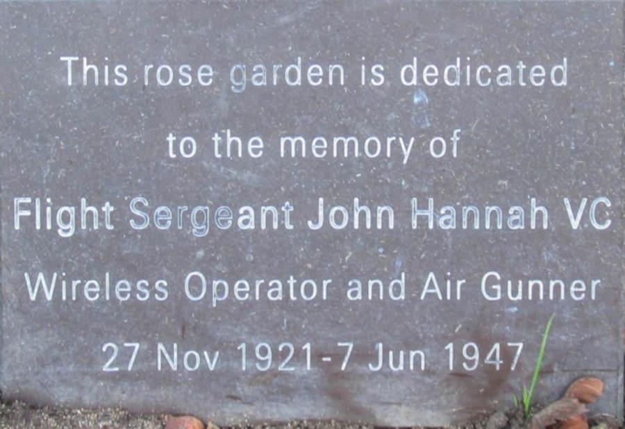 Memorial panel for John Hannah